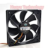 huayu for Cooler Master Ultra-Quiet A12025-12CB-3BN-F1 12cm 12025 12V 0.16A 3-Wire Host Computer Cooling Fan