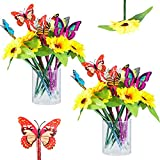 24 Pieces Sunflower Pens and Butterfly Pens,...