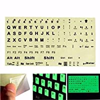 YANHUA English Standard Keyboard Sticker PC Laptop Fluorescent Keyboard Cover Luminous Full Keyboard Large Letter Sticker