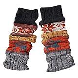 BHYDRY Calentadores de piernas calientes de invierno Cable Tejido de punto Crochet Calcetines largos y largos Leggings