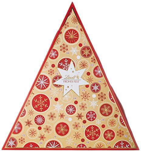 Lindt Adventskalender Tannenbaum Schneeflocke, glutenfrei, 1er Pack (1 x 122 g)