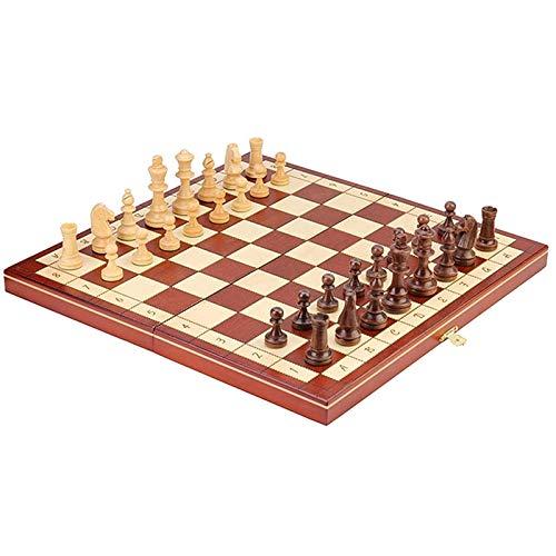 LMDH Juego de Juegos de ajedrez portátil Juego de ajedrez de Madera Magnético Universal Tablero Juego de Mesa para Todas Las Edades Tablero de ajedrez artesado en Edades (Size : 40 * 40cm)