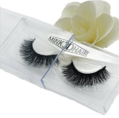 HENGSONG 3D Artificial Hair False Eyelashes Natural Thick Eye Lashes Makeup Extension (D)