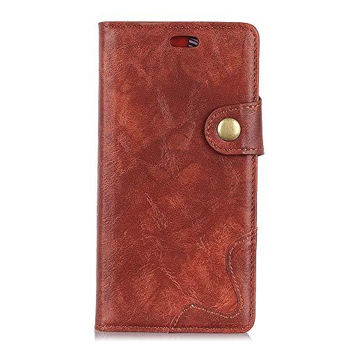 Sunrive Funda para Xiaomi Mi Mix 2S, Funda Protección Carcasa Cuero Resistente Cierre Magnético,Carcasa en Folio, Soporte Plegable (036 Marrón) + 1 x Lápiz óptico