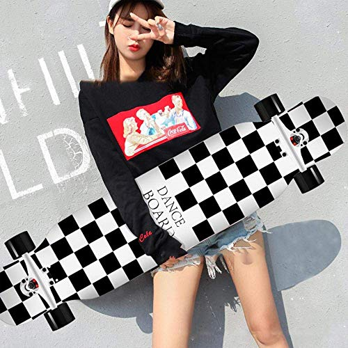 HUADUO Maple Longboard Skateboard Jungen und Mädchen Brush Street Dance Board Anfänger Adult Youth Skateboard Sports Board-Farbe-C