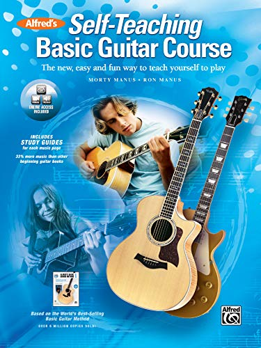 Alfred's Self-Teaching Basic Guitar Course: The new, easy and fun way to teach yourself to play, Book & Online Video/Audio