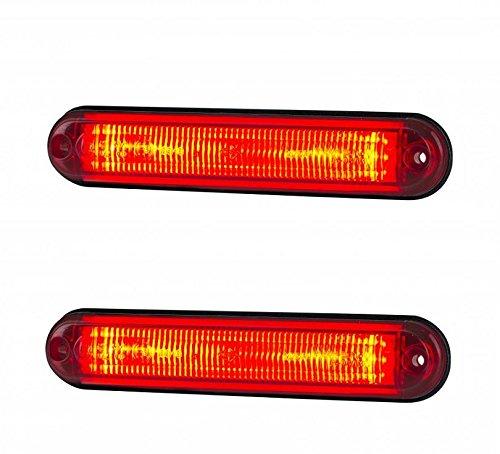 2 x rode led-buis achterlichten E9 kentekenplaat IP68 camper aanhanger vrachtwagen caravan bus