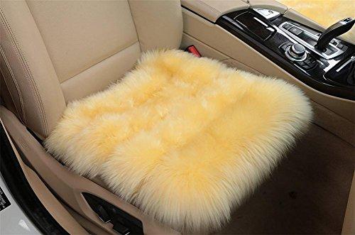DIELIAN Seat Pad Universele schapenvacht voor comfort in de auto, vliegtuig, kantoor of thuis.
