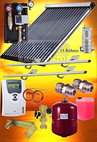 Solaranlage Solarthermie Pakete Röhrenkollektor VTC 15 Röhren 2,36m² Kollektor