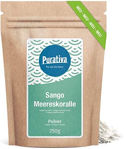 Sango Meereskoralle Pulver hochdosiert 250g - Okinawa, Japan - Sangopulver - Natürlich hoher Kalzium Anteil - ohne Zusätze - Manufakturabfüllung in Deutschland