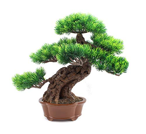 We pay your sales tax Artificial Plants & Greenery Fake Bonsai Decor for Indoor Outdoor Home Office Hotel Garden Idea (14 '')