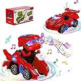 LED DinosauriosтАЛJuguetes Ni├▒os Coches de Juguetes 2 en 1,Transformers Juguete Car,Coche Robot Ni├▒os con Luces de Colores y Sonido,Juguetes Ni├▒os 2-13 A├▒os,Juegos Ni├▒os,Regalos para Ni├▒os