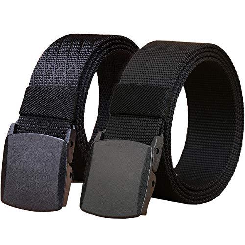 WYuZe 2 Pack Nylon Belt, Outdoor Military Web Belt Men's Tactical Webbing Belt