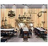 Dekorative Wand-Tapeten-Weinlese-Handgemalter Weinkeller-Hölzerner Hintergrundfoto-Wandbild 3D Tapete Seidentuch,350x245cm