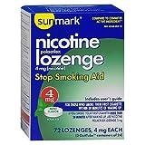 Sunmark Sunmark Nicotine Polocrilex Lozenge, Mint 72 each 4 mg