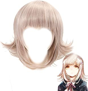 Nanami ChiaKi Cosplay Wig Xcoser Game Danganronpa 2: Goodbye Despai Character Hairs Brown Short Straight for Women