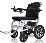 TJZY Electric Wheelchair Aluminum Alloy Lithium Battery Foldable Lightweight Elderly Disabled Automatic Power Wheelchair gyi