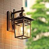 Lámpara lámpara de pared lámpara retro LED - iluminación impermeable a prueba de herrumbre, lámpara de pared para patio exterior iluminación para restaurante interior (excluyendo fuente de luz)