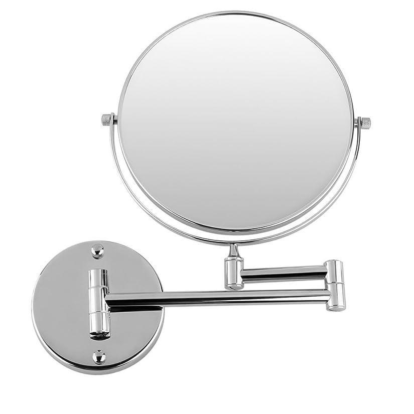 アカデミックあいさつはさみTYJP 拡張クロームラウンド 8インチ 化粧壁マウント鏡 シェービングバスルームの鏡 3倍の倍率