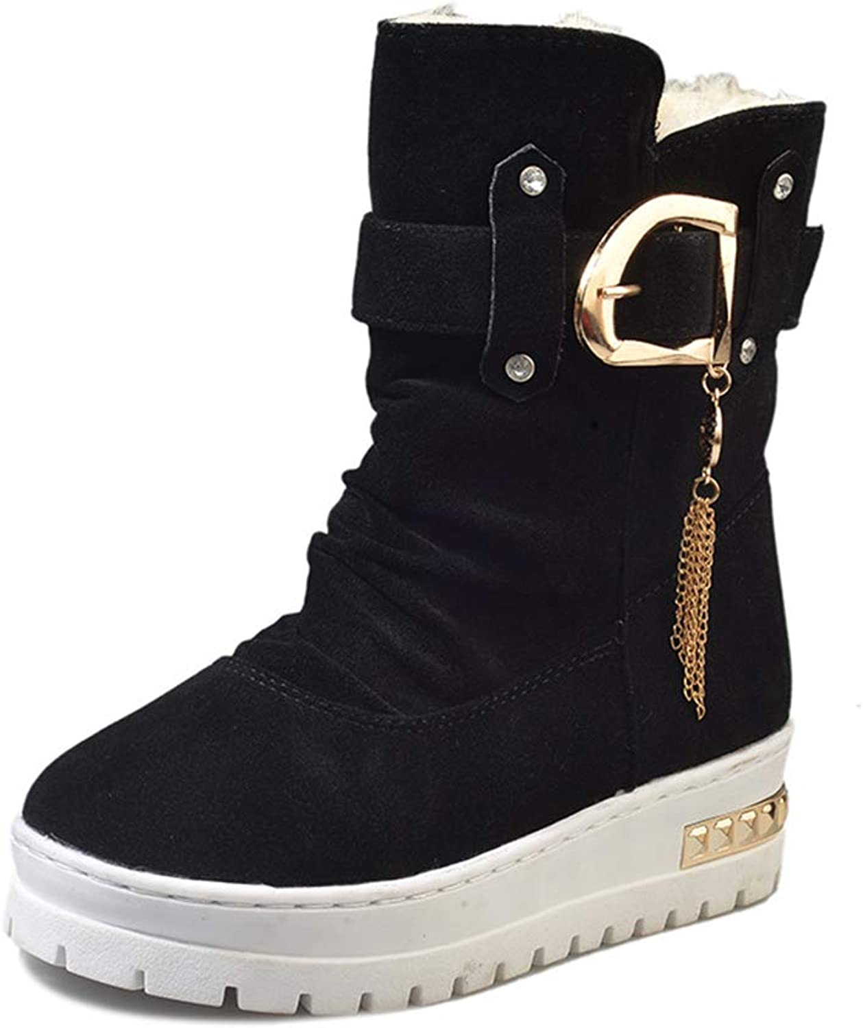 Super explosion Women's Ankle Waterproof Winter Snow Boots with Buckle Strips Warm Booties shoes