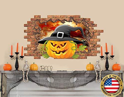 Halloween muursticker. Pompoen verwijderbare Vinyl Sticker. Venster Happy Halloween Mural. Schil en plak Decals. Vakantie decoratie NS2168 Eenvoudig aan te brengen en verwijderbaar