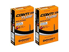 Continental Race 28 700x20-25c Bicycle Inner Tubes - 42mm Long Presta Valve - TWO PACK w/ Conti Sticker Durability: Each and every inner tube passes a stringent 100 percent quality control inspection Construction: 42mm Threaded Presta Valve, Removabl...
