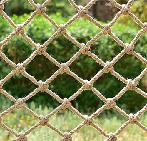 HWJ Kletternetz for Kinder Retro Dekoratives Netz Pflanzennetz Treppenschutznetz Schutznetz Deckennetz Absturzsicherungsnetz for Kinder Garden Courtyard Bar (Size : 2x7m)