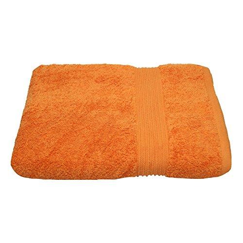 Julie Julsen Serviette de douche sans produits chimiques 600 g/m² Orange 70 x 140 cm 100 % coton – Certifié Öko-Tex Std 100 – Doux et absorbant – Lavable en machine