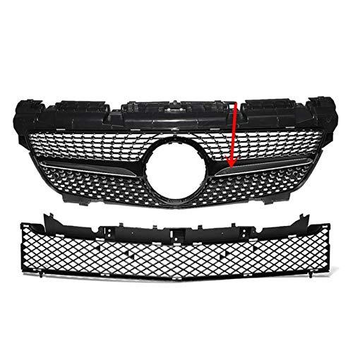LHZBB Parrilla, Parrilla Delantera de Coche Estilo Diamante R172 Mercedes para Benz SLK Clase R172 200250350 2012-2016 Parrillas de Carreras, Negro
