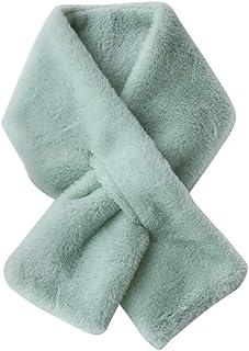 SiTai Miis ぬいぐるみスカーフ マフラー 短いスカーフ 柔軟軽量 洗濯可能 マフラー レディース スカーフ 両面使える シンプル 春夏秋冬 男女兼用 (グリーン)