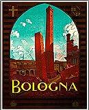 Bologna Vintage Reise Metall Blechschild Poster Wandschild
