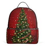 Mochila de lona para el árbol de Navidad, color rojo, de gran capacidad, para niños, niñas, niños y estudiantes, de 3 a 9 años