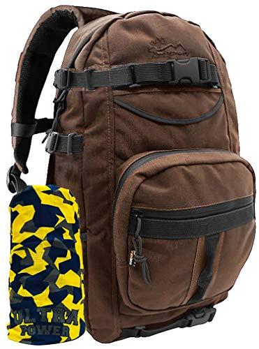 Wisport Sac à Dos + Ultrapower Tour de Cou   Daypack   Survie   Airsoft   Montagne   Chasse   Pêche   Ville   Loisir   Cordura   Forester 28 L, Camouflage:Brown