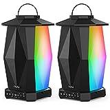 Olafus Outdoor Bluetooth Speakers 2 Pack, 25W Waterproof Wireless Lantern Speakers with LED Mood...