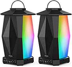 Olafus Outdoor Bluetooth Speakers 2 Pack, 25W Waterproof Wireless Lantern Speakers with LED Mood Lights, Up to 200 Speakers Synch, 20H Playtime, Party Speakers for Garden Patio Yard Camping
