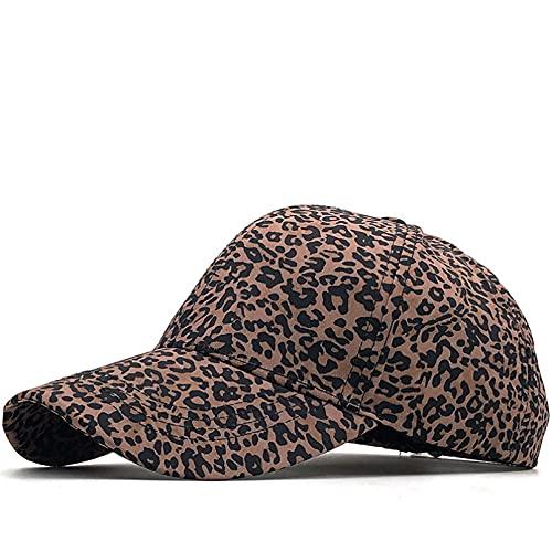 Gorra de béisbol Gorra con Estampado de Leopardo de Moda para Mujer Salida al Aire Libre protección Solar Gorra con Visera Gorra Deportiva Informal Gorra Ajustable