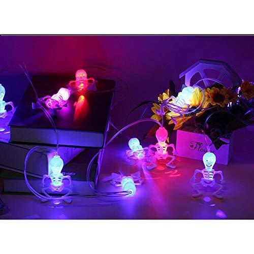 CSINA -Halloween decoración apoyos Calabaza de Cadena Ligera decoración Globo Ocular String Centro Comercial Barra de apoyos Original (Color : 04, Size : 3 Meters Line 10 Lights)