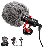 BOYA MM1 Mini Microphone Compact On Camera, Universal Youtube Vlogging Facebook Livestream Recording