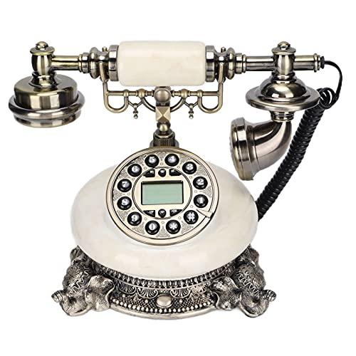 ciciglow Retro Telefono, Telefono di Casa Stile Vintage Europeo con Quadrante a Pulsante, FSK/DTMF Linea Telefonica Alimentata Cafe Bar Decorazione della Finestra Decorazione della Casa