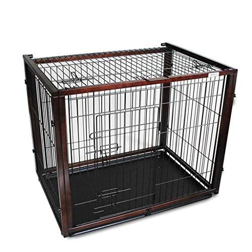 Hh001 Gabbia per Animali Gabbia per Cani gabinetto in Legno massello Ferro Gabbia per Animali Taglia Media Taglia Cane Recinzione Pet Recinzione con Vassoio Copertura Superiore Gabbia per Cani