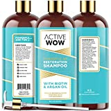 Active Wow Hair Growth Shampoo - DHT Blockers with Argan Oil & Organic...