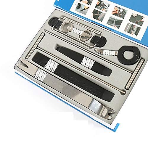 ZZWBOX Herramienta de Desmontaje para Automóviles Kit de Reparación de Tapicería para Automóviles Herramientas de Quitar Panel Interior de Coche para Audio de Coche y Extraer Tapicerías de Vehículos