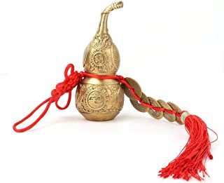 Hilitand Brass Good Luck Wu Lou Hu Lu Gourd Feng Shui Luck and Treasure for Housewarming Gifts Home Decoration