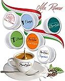 BOCCA DELLA VERITA Café Italiano - Paquete de 50 Cápsulas - Sabor MIX ROMA, Compatible con Cafetera Lavazza Espresso Point, 100% Made in Italy