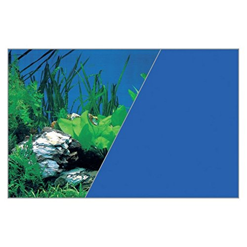 Zolux Poster Fond Décor Découpé pour Aquarium Roche/Bleu 60 x 120 cm