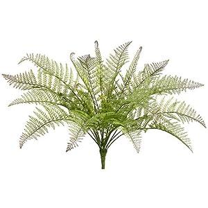30″ Plastic Boston Fern Bush w/14 Leaves Green (pack of 4)