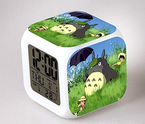 Yyoutop LED 7 Color Flash Digital Alarm Clock Children Night Light Bedroom Clock reloj despertador Seven-Color Flash Digital Alarm Clock Night Light