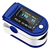 CONTEC Pulse Oximeter Fingertip, Blood Oxygen Saturation Monitor, Heart Rate Monitor and SpO2 Levels with Dual Color OLED Screen Display