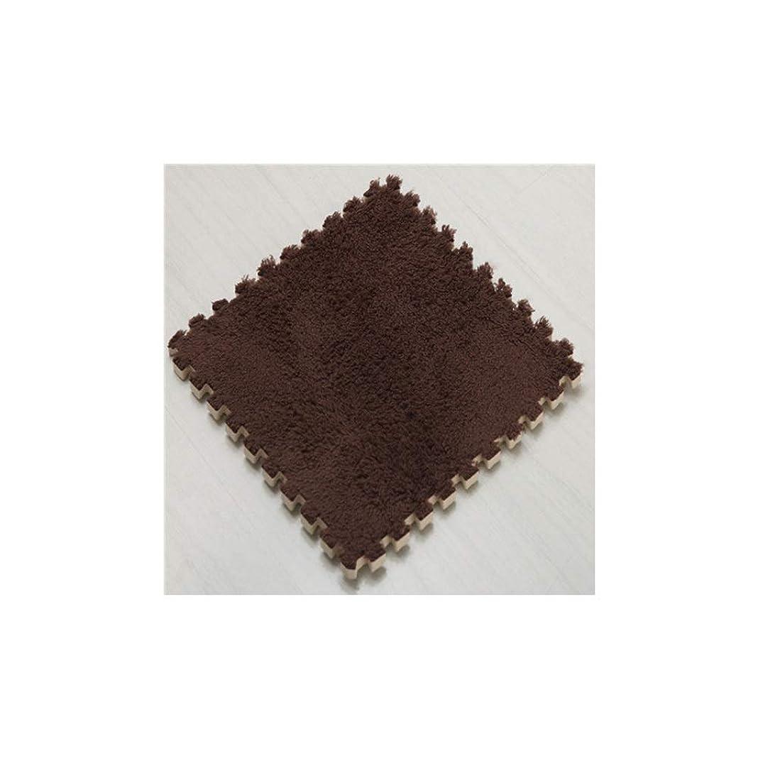 ふつうアピールブリードCetengkeji 泡床マット、24枚セット、EVAフォーム連動タイルパズル運動マット、サイズ30 * 30 * 1.0cm、 (Color : ブラウン)