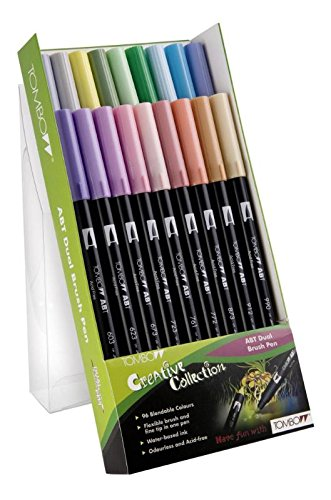 TOMBOW Dual Brush Pen ABT, 18-colours-set, pastels colours